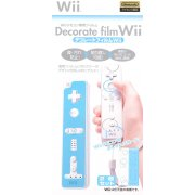 Wii Remote Control Protection & Decoration Film (blue and white)