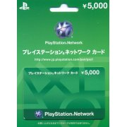 PlayStation Network Card / Ticket (5000 YEN / for Japanese network only) [retail packing]