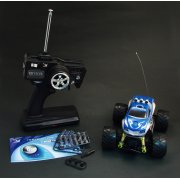 Iwaver FM 1/24 Digital Proportional RC Mini 4WD Bigfoot (Blue)