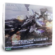 Armored Core 1/72 Scale Plastic Model Kit: White Glint &amp; V.O.B Set Movie Color Version (Re-run)