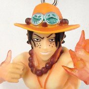 One Piece Super Effect Pre-Painted PVC Figure Key Chain Vol.1: Portgas D. Ace