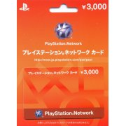 PlayStation Network Card / Ticket (3000 YEN / for Japanese network only)