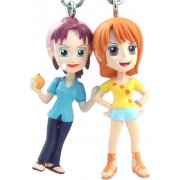 One Piece Pre-Painted PVC Twin Key Chain Vol. 1: Nami + Bellemere
