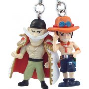 One Piece Pre-Painted PVC Twin Key Chain Vol. 1: Whitebeard + Ace