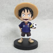 One Piece Bobbing Head Pre-Painted PVC Figure: Luffy Japanese Soccer Team Ver.