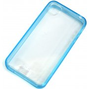 Soft Jacket iPhone 4 / 4S  Frame (Clear Tinted Blue)