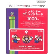 Nintendo Network Card / Ticket - Super Mario Edition (1000 YEN / for Japanese network only) [retail packing]