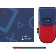 Thumbnail for BEAMSdesign PS Vita Pouch Clothing & Pouch Set (Red & Dark Blue)