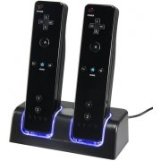 Wii LED Recharger Stand (Black)