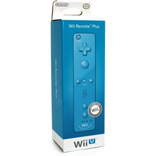 wii u remote plus control blue. Black Bedroom Furniture Sets. Home Design Ideas